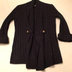 a. n. a. Open Black Cardigan